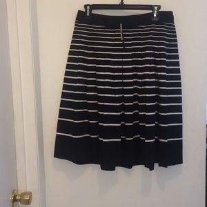 Talbots black & white striped skirt